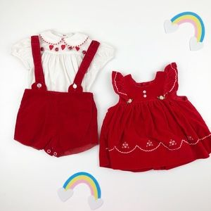 Other - Vintage Red Outfit 3 - 6 months